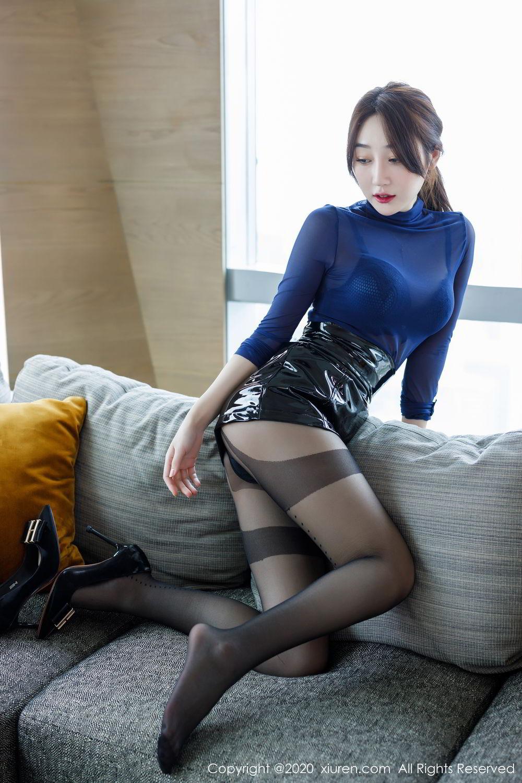 [XiuRen] Vol.2129 Xiao Jiu Yue 28P, Black Silk, Foot, Underwear, Xiao Jiu Yue, Xiuren