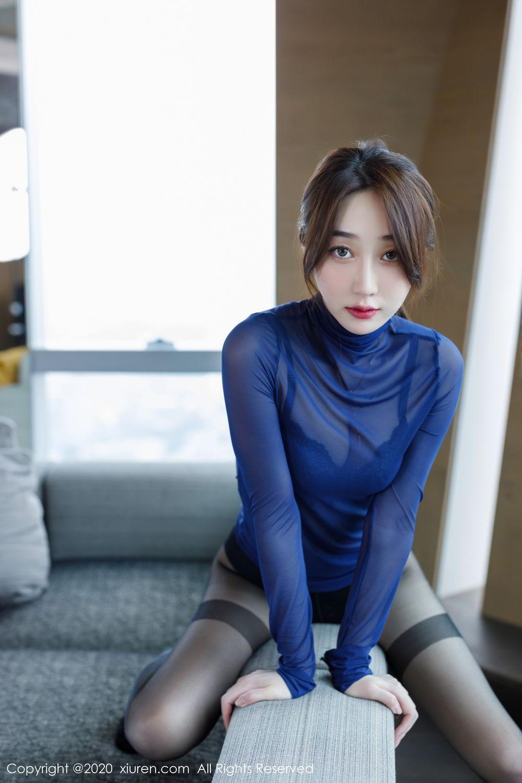 [XiuRen] Vol.2129 Xiao Jiu Yue 2P, Black Silk, Foot, Underwear, Xiao Jiu Yue, Xiuren