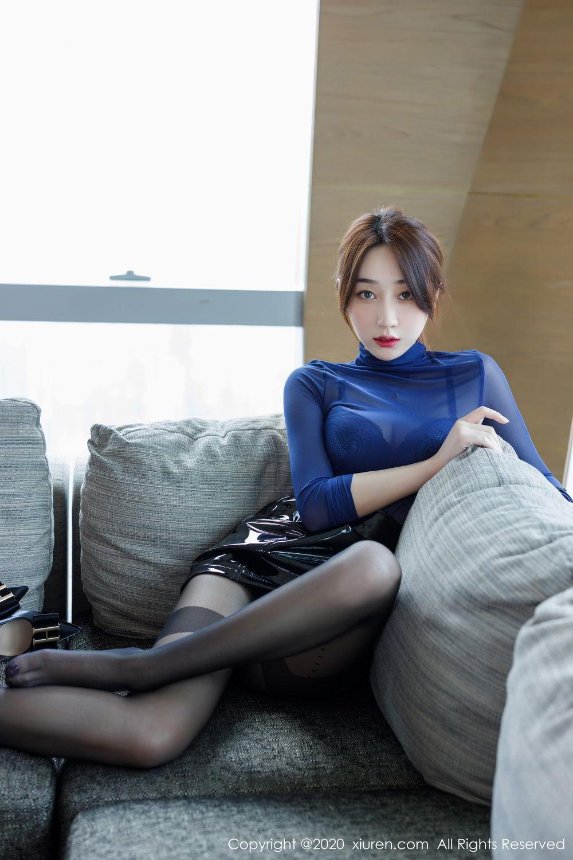 [XiuRen] Vol.2129 Xiao Jiu Yue 33P, Black Silk, Foot, Underwear, Xiao Jiu Yue, Xiuren