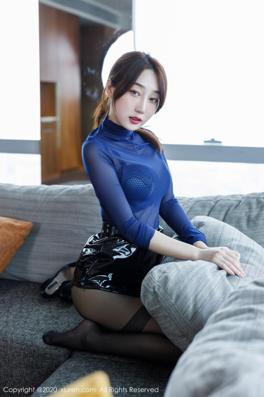 [XiuRen] Vol.2129 Xiao Jiu Yue 35P, Black Silk, Foot, Underwear, Xiao Jiu Yue, Xiuren