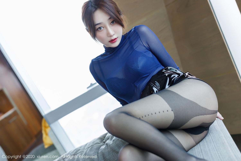[XiuRen] Vol.2129 Xiao Jiu Yue 37P, Black Silk, Foot, Underwear, Xiao Jiu Yue, Xiuren