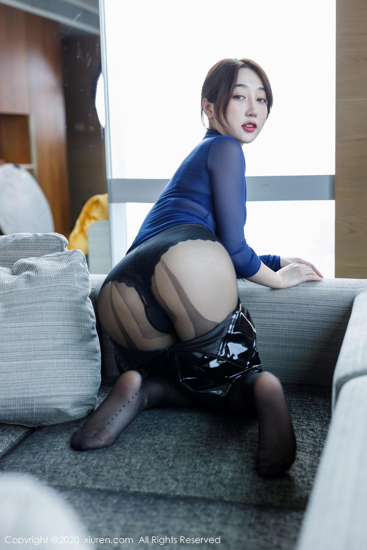 [XiuRen] Vol.2129 Xiao Jiu Yue 39P, Black Silk, Foot, Underwear, Xiao Jiu Yue, Xiuren