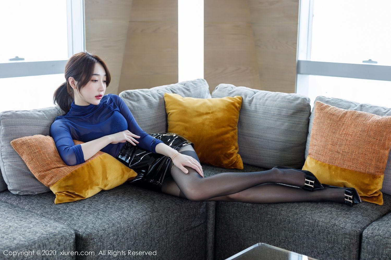 [XiuRen] Vol.2129 Xiao Jiu Yue 3P, Black Silk, Foot, Underwear, Xiao Jiu Yue, Xiuren