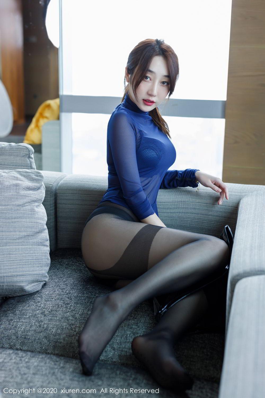 [XiuRen] Vol.2129 Xiao Jiu Yue 42P, Black Silk, Foot, Underwear, Xiao Jiu Yue, Xiuren