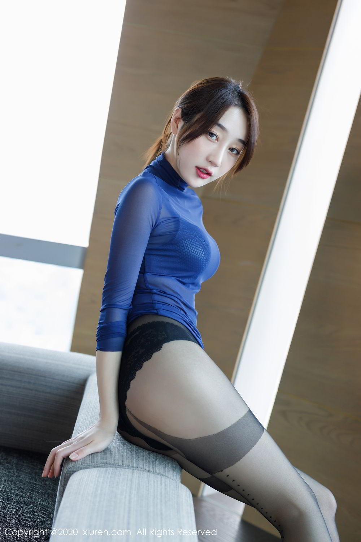 [XiuRen] Vol.2129 Xiao Jiu Yue 43P, Black Silk, Foot, Underwear, Xiao Jiu Yue, Xiuren