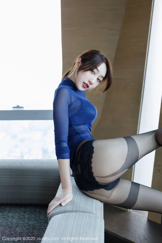 [XiuRen] Vol.2129 Xiao Jiu Yue 46P, Black Silk, Foot, Underwear, Xiao Jiu Yue, Xiuren