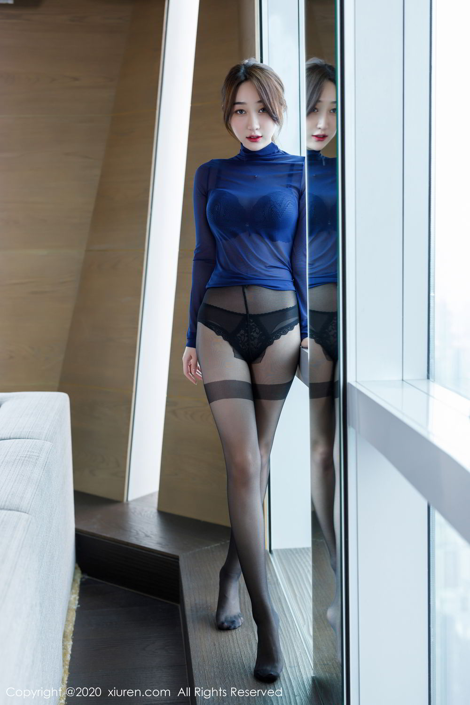 [XiuRen] Vol.2129 Xiao Jiu Yue 47P, Black Silk, Foot, Underwear, Xiao Jiu Yue, Xiuren