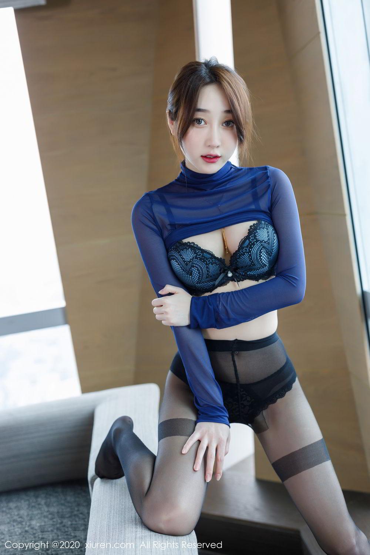 [XiuRen] Vol.2129 Xiao Jiu Yue 48P, Black Silk, Foot, Underwear, Xiao Jiu Yue, Xiuren