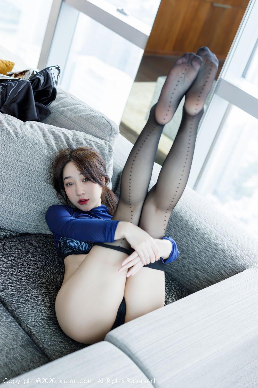 [XiuRen] Vol.2129 Xiao Jiu Yue 49P, Black Silk, Foot, Underwear, Xiao Jiu Yue, Xiuren