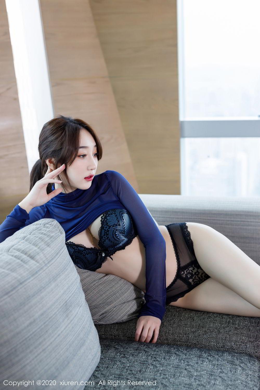 [XiuRen] Vol.2129 Xiao Jiu Yue 54P, Black Silk, Foot, Underwear, Xiao Jiu Yue, Xiuren