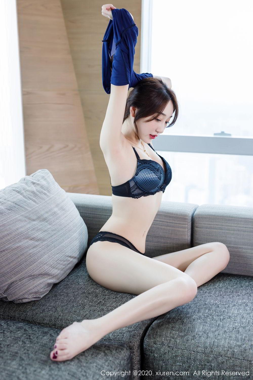 [XiuRen] Vol.2129 Xiao Jiu Yue 55P, Black Silk, Foot, Underwear, Xiao Jiu Yue, Xiuren