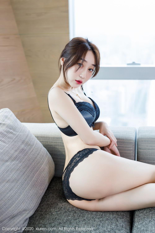 [XiuRen] Vol.2129 Xiao Jiu Yue 56P, Black Silk, Foot, Underwear, Xiao Jiu Yue, Xiuren