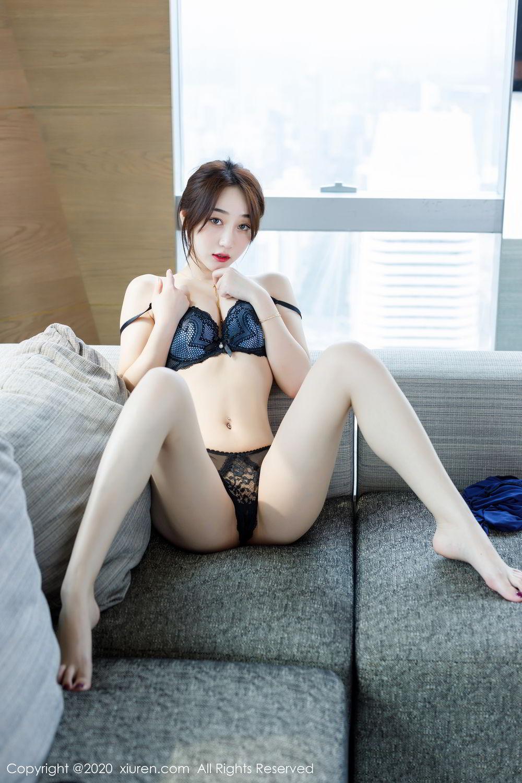 [XiuRen] Vol.2129 Xiao Jiu Yue 57P, Black Silk, Foot, Underwear, Xiao Jiu Yue, Xiuren