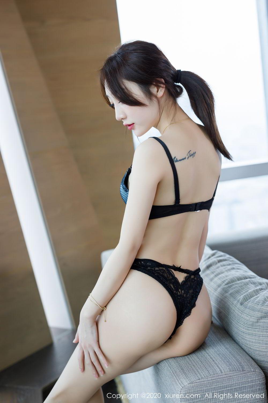 [XiuRen] Vol.2129 Xiao Jiu Yue 61P, Black Silk, Foot, Underwear, Xiao Jiu Yue, Xiuren