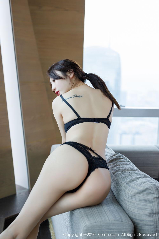 [XiuRen] Vol.2129 Xiao Jiu Yue 63P, Black Silk, Foot, Underwear, Xiao Jiu Yue, Xiuren