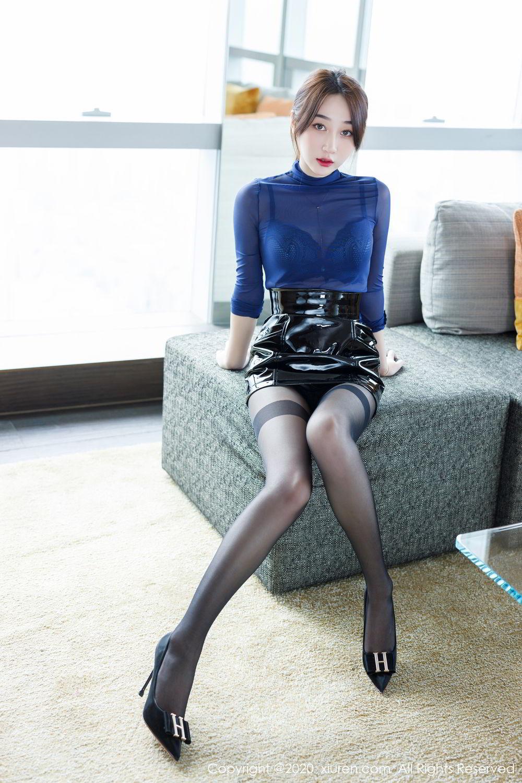 [XiuRen] Vol.2129 Xiao Jiu Yue 7P, Black Silk, Foot, Underwear, Xiao Jiu Yue, Xiuren