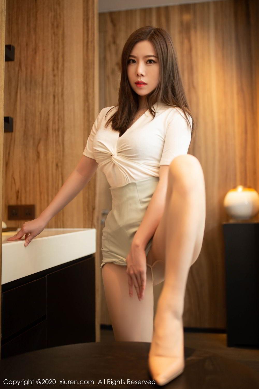 [XiuRen] Vol.2132 Bai Ru Xue 10P, Bai Ru Xue, Black Silk, Tall, Uniform, Xiuren
