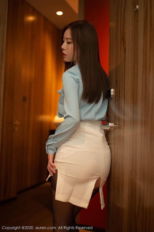 [XiuRen] Vol.2132 Bai Ru Xue 22P, Bai Ru Xue, Black Silk, Tall, Uniform, Xiuren