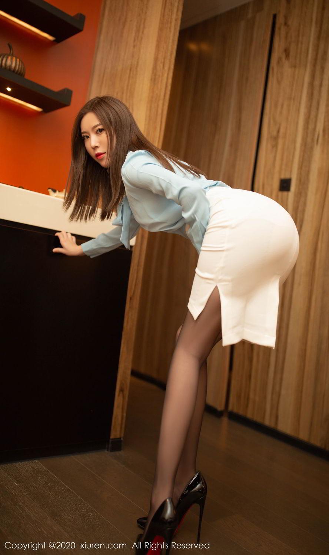 [XiuRen] Vol.2132 Bai Ru Xue 25P, Bai Ru Xue, Black Silk, Tall, Uniform, Xiuren