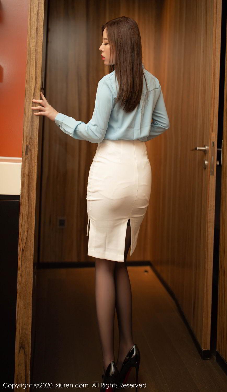 [XiuRen] Vol.2132 Bai Ru Xue 3P, Bai Ru Xue, Black Silk, Tall, Uniform, Xiuren