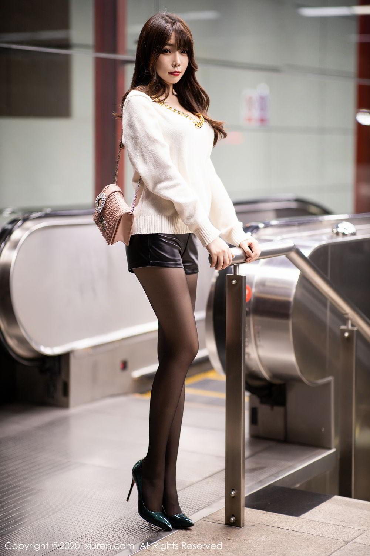[XiuRen] Vol.2133 Zhi Zhi Booty 12P, Black Silk, Chen Zhi, Underwear, Xiuren