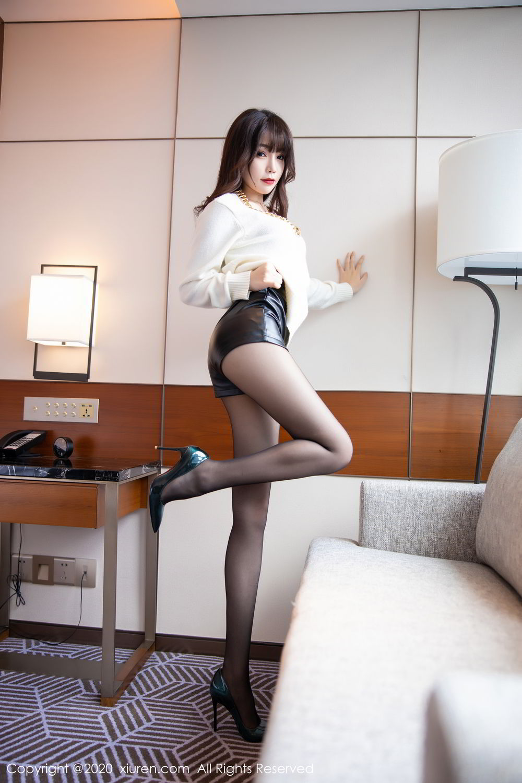 [XiuRen] Vol.2133 Zhi Zhi Booty 13P, Black Silk, Chen Zhi, Underwear, Xiuren