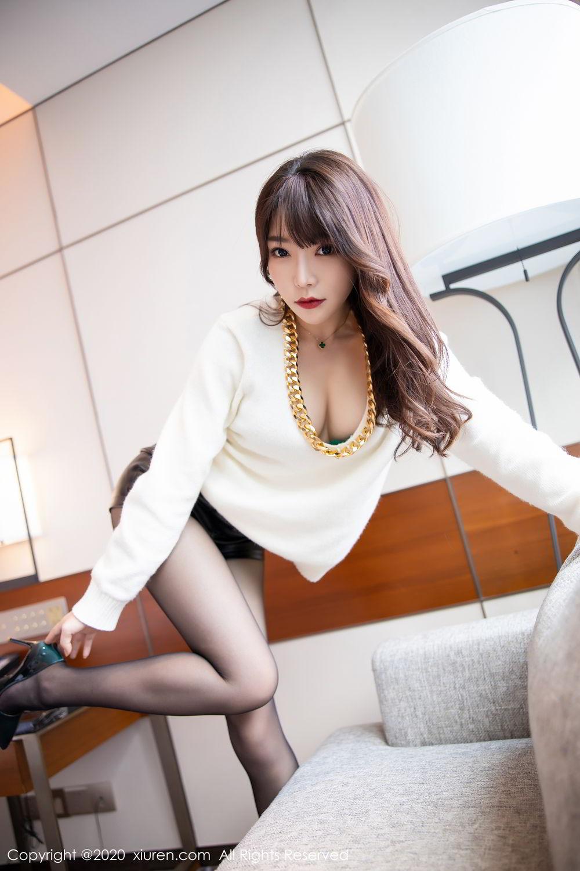 [XiuRen] Vol.2133 Zhi Zhi Booty 15P, Black Silk, Chen Zhi, Underwear, Xiuren