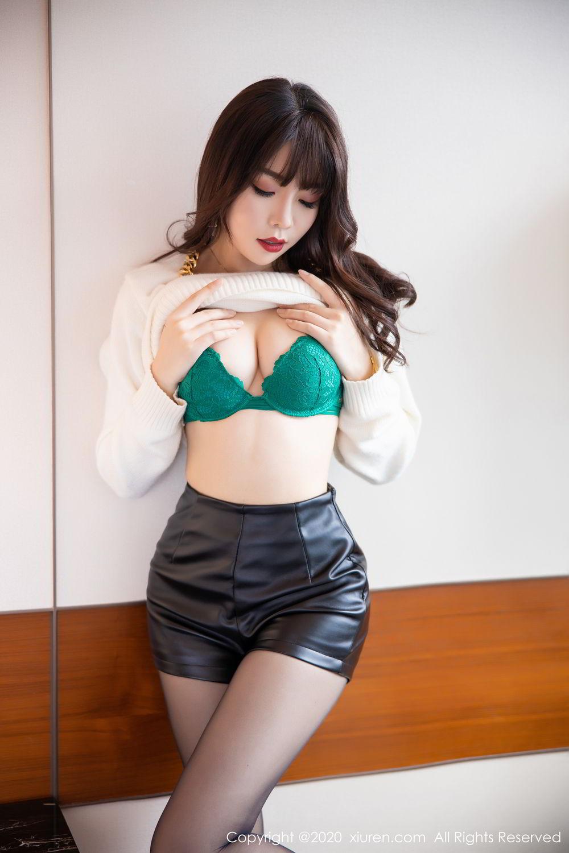 [XiuRen] Vol.2133 Zhi Zhi Booty 18P, Black Silk, Chen Zhi, Underwear, Xiuren