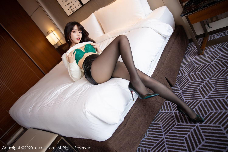 [XiuRen] Vol.2133 Zhi Zhi Booty 19P, Black Silk, Chen Zhi, Underwear, Xiuren