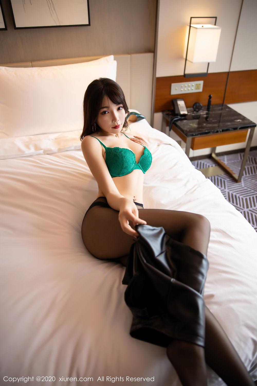 [XiuRen] Vol.2133 Zhi Zhi Booty 34P, Black Silk, Chen Zhi, Underwear, Xiuren