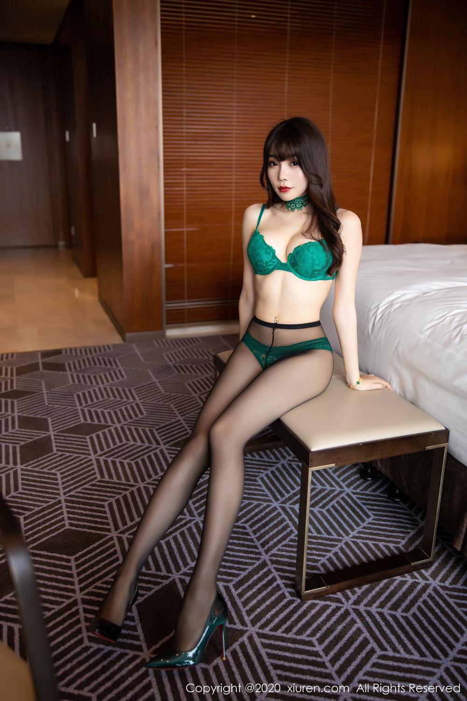 [XiuRen] Vol.2133 Zhi Zhi Booty 35P, Black Silk, Chen Zhi, Underwear, Xiuren