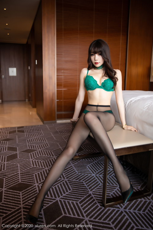 [XiuRen] Vol.2133 Zhi Zhi Booty 36P, Black Silk, Chen Zhi, Underwear, Xiuren