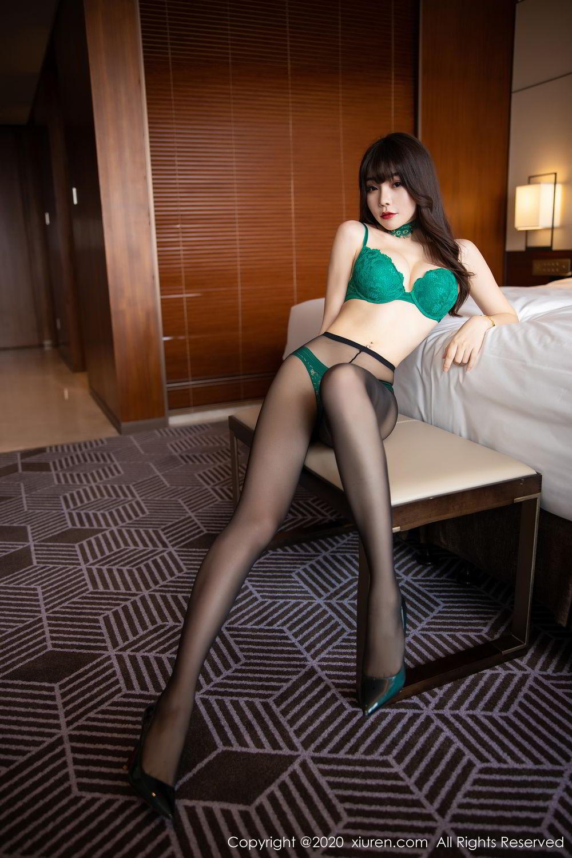 [XiuRen] Vol.2133 Zhi Zhi Booty 37P, Black Silk, Chen Zhi, Underwear, Xiuren