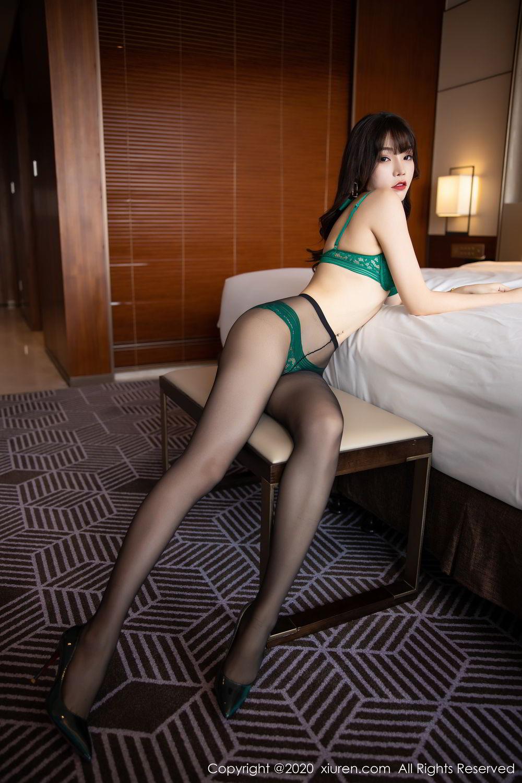 [XiuRen] Vol.2133 Zhi Zhi Booty 38P, Black Silk, Chen Zhi, Underwear, Xiuren
