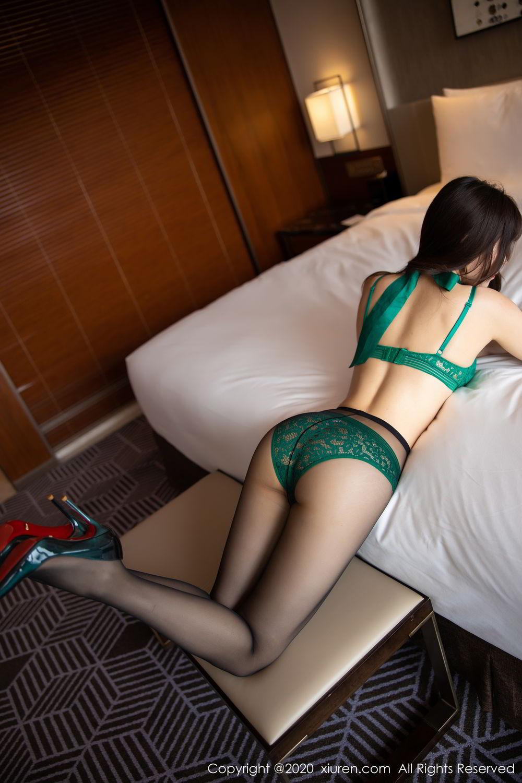 [XiuRen] Vol.2133 Zhi Zhi Booty 44P, Black Silk, Chen Zhi, Underwear, Xiuren