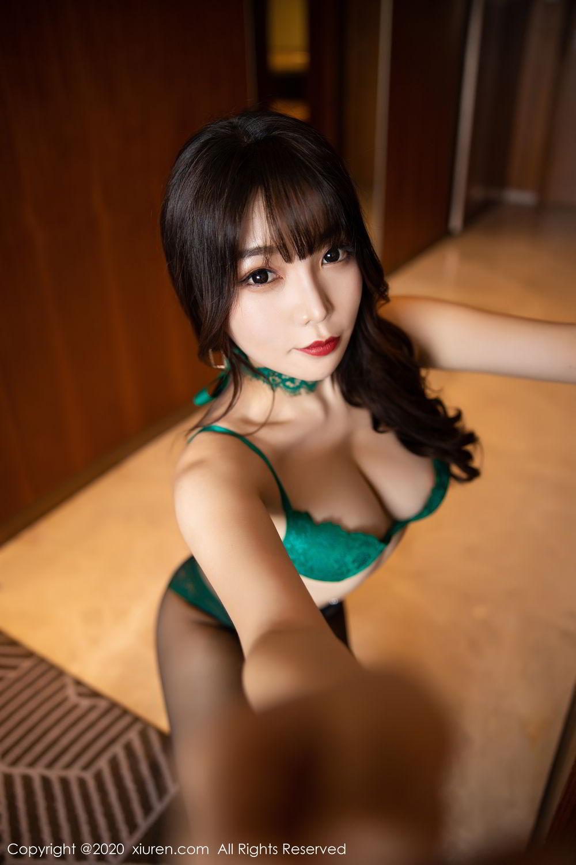 [XiuRen] Vol.2133 Zhi Zhi Booty 55P, Black Silk, Chen Zhi, Underwear, Xiuren