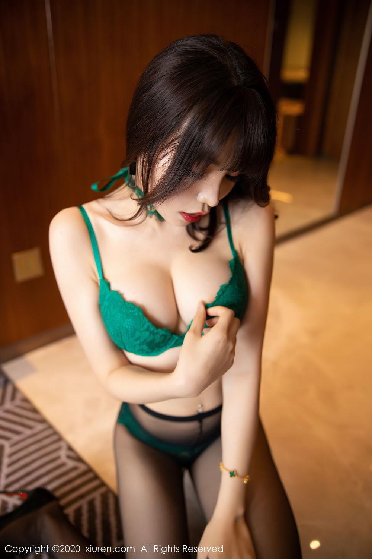 [XiuRen] Vol.2133 Zhi Zhi Booty 58P, Black Silk, Chen Zhi, Underwear, Xiuren