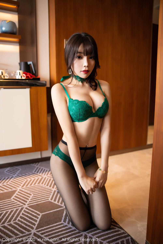[XiuRen] Vol.2133 Zhi Zhi Booty 59P, Black Silk, Chen Zhi, Underwear, Xiuren