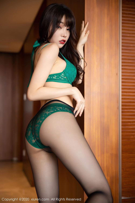 [XiuRen] Vol.2133 Zhi Zhi Booty 60P, Black Silk, Chen Zhi, Underwear, Xiuren