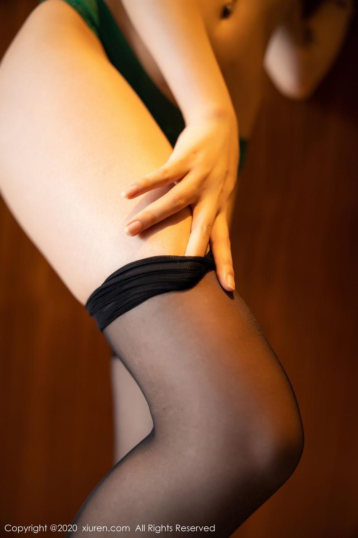 [XiuRen] Vol.2133 Zhi Zhi Booty 64P, Black Silk, Chen Zhi, Underwear, Xiuren