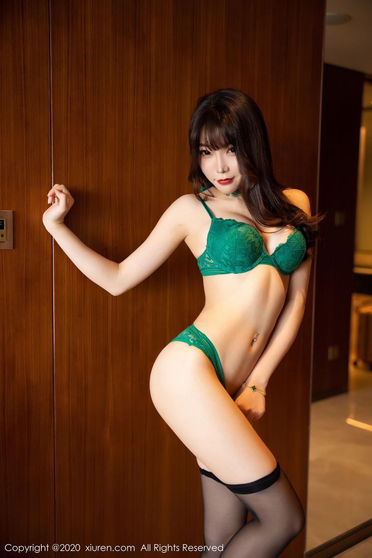 [XiuRen] Vol.2133 Zhi Zhi Booty 66P, Black Silk, Chen Zhi, Underwear, Xiuren