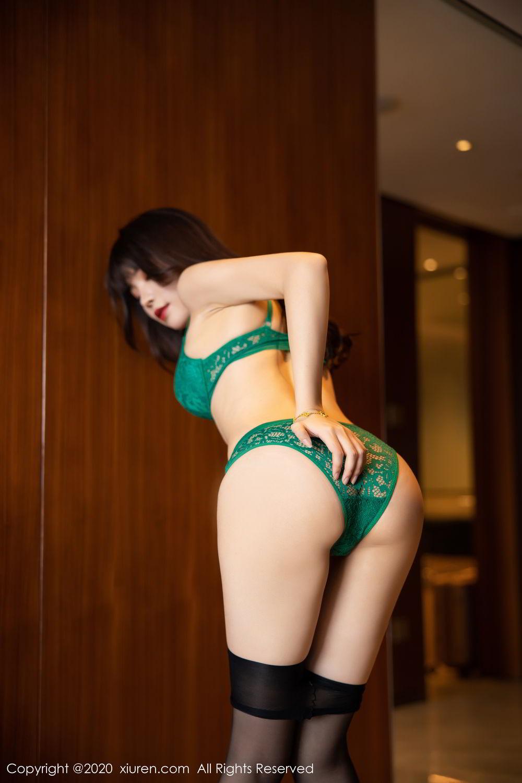 [XiuRen] Vol.2133 Zhi Zhi Booty 67P, Black Silk, Chen Zhi, Underwear, Xiuren
