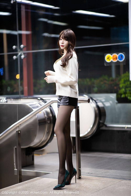 [XiuRen] Vol.2133 Zhi Zhi Booty 6P, Black Silk, Chen Zhi, Underwear, Xiuren