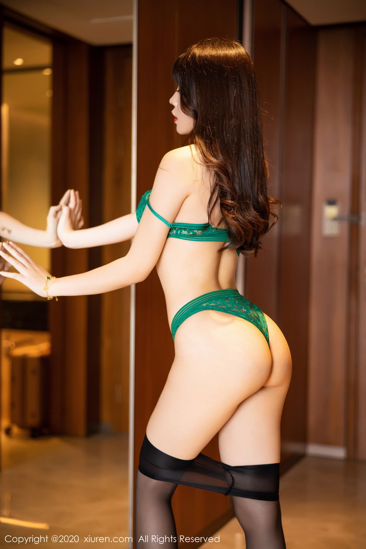 [XiuRen] Vol.2133 Zhi Zhi Booty 72P, Black Silk, Chen Zhi, Underwear, Xiuren