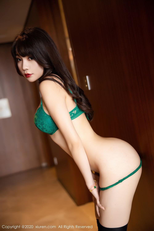 [XiuRen] Vol.2133 Zhi Zhi Booty 76P, Black Silk, Chen Zhi, Underwear, Xiuren