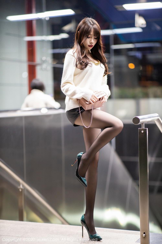 [XiuRen] Vol.2133 Zhi Zhi Booty 8P, Black Silk, Chen Zhi, Underwear, Xiuren