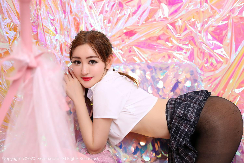 [XiuRen] Vol.2134 Shen Meng Yao 26P, Black Silk, School Uniform, Shen Meng Yao, Tall, Xiuren