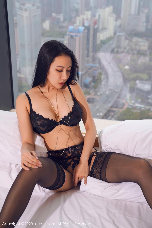 [XiuRen] Vol.2142 Guo Er Victoria 10P, Black Silk, Sexy, Song Guo Er, Underwear, Xiuren