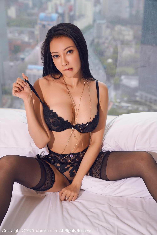 [XiuRen] Vol.2142 Guo Er Victoria 11P, Black Silk, Sexy, Song Guo Er, Underwear, Xiuren