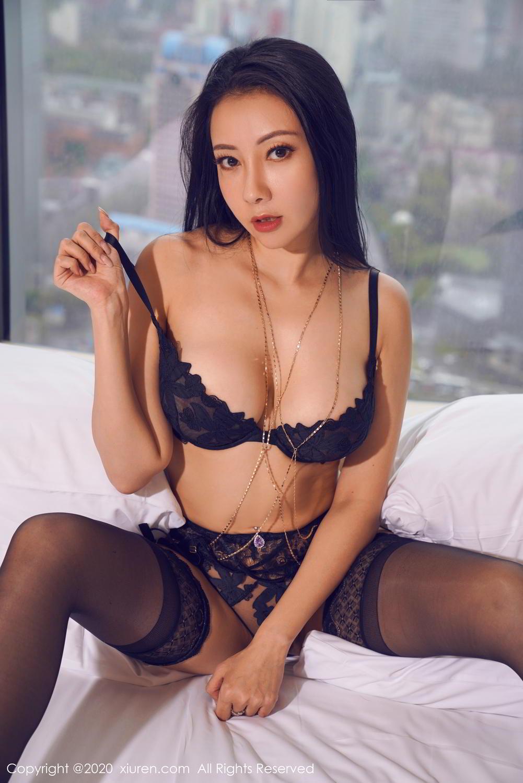 [XiuRen] Vol.2142 Guo Er Victoria 12P, Black Silk, Sexy, Song Guo Er, Underwear, Xiuren